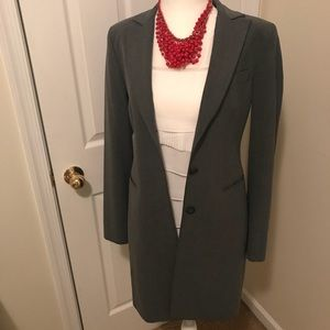 Express Women's Single Breasted Long Grey Blazer